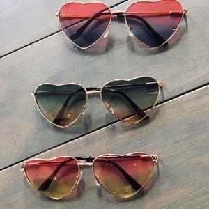 Gradient Heart Shape Sunglasses